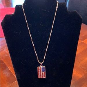 Jewelry - American Flag necklace- 10 inches